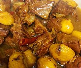 栗子炖牛肉的做法