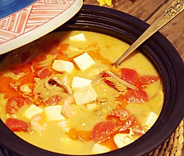 咖喱海鲜豆腐锅的做法