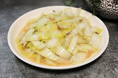 油堆炒大白菜
