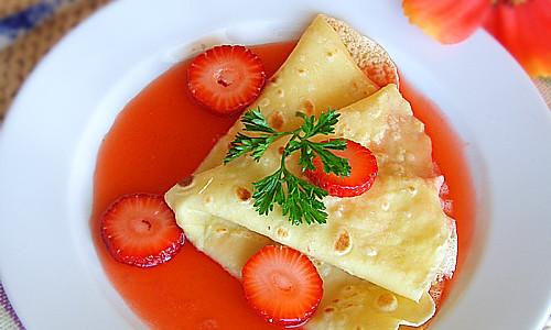 法式草莓可丽饼的做法