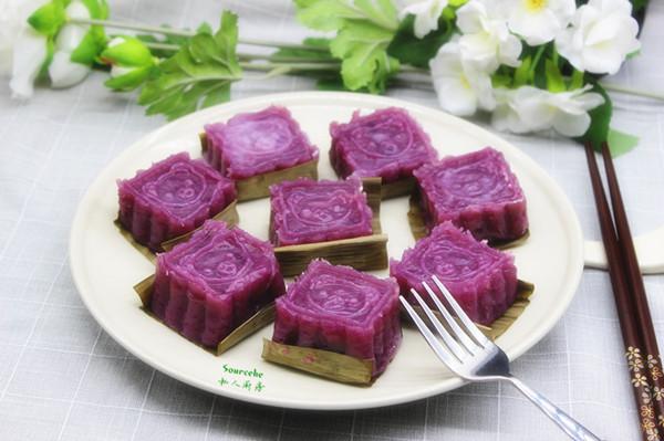 山药紫薯糕的做法