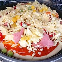 #晒出你的团圆大餐#田园风披萨的做法图解6