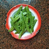 腊肠炒荷兰豆的做法图解3