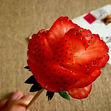 草莓玫瑰花