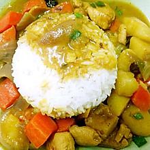 咖喱鸡块土豆盖浇饭