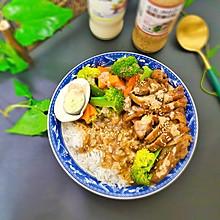 沙拉蜜汁鸡腿饭#合理膳食 营养健康进家庭#
