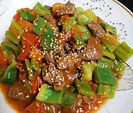 牛肉粒炒青椒