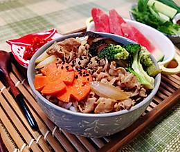 日式小牛饭/简单健康餐的做法