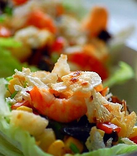 生菜虾松的做法