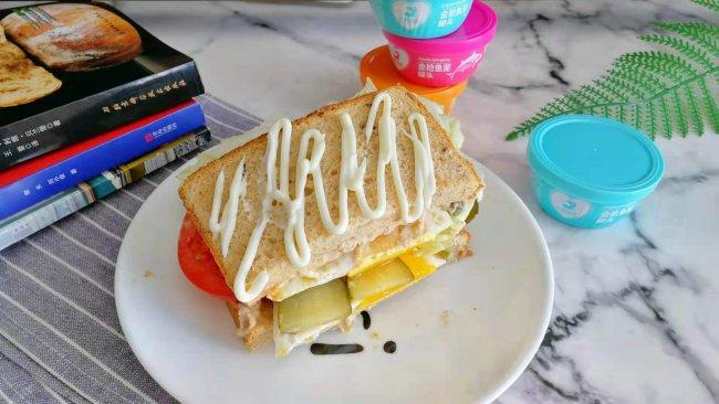 超减脂又营养的金枪鱼三明治的做法