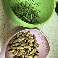 卤花生毛豆的做法图解1