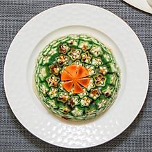 秋葵土豆泥,颜值超高的减脂主食餐 #精品菜谱挑战赛#