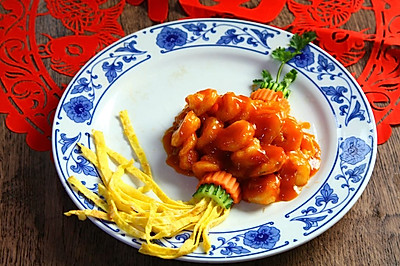 宫灯虾球#盛年锦食.忆年味#