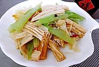 麻香芹菜炒腐竹的做法