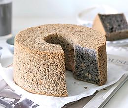 黑芝麻核桃戚风蛋糕的做法