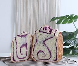 #元宵节美食大赏# 面包机紫薯吐司,层次分明,柔细腻颜值高的做法