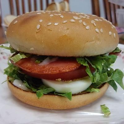 十分钟早餐—— 火腿蛋汉堡(三明治)