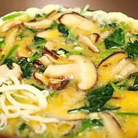 菠菜蘑菇奶酪蛋饼-迷迭香的做法图解8