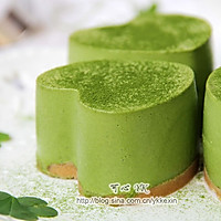#豆果5周年#四叶草抹茶慕斯蛋糕的做法图解10