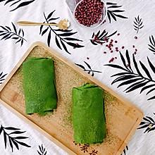 仙女必备夏日甜品-抹茶蜜豆毛巾卷