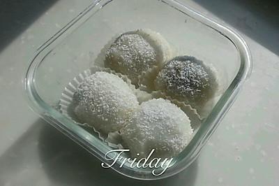 椰蓉红豆麻薯