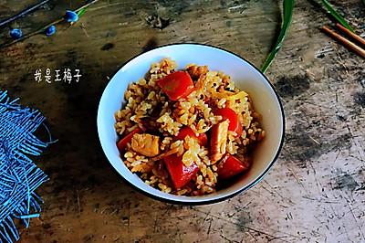 鸡胸肉焖米饭
