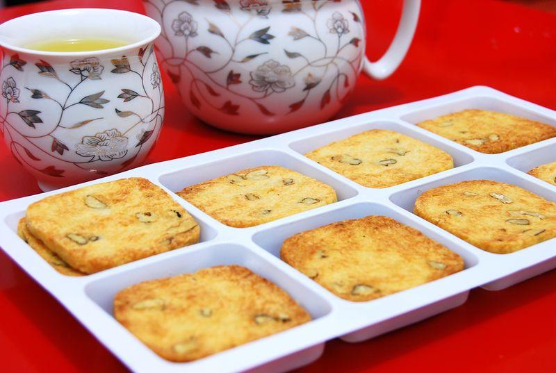 奶油桃仁饼