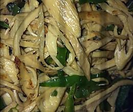 青椒豆筋的做法