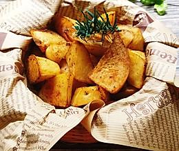 比薯条好吃的低脂烤薯角!!减肥解馋小零食的做法
