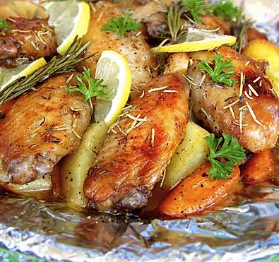 柠檬香草烤鸡翅
