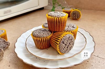 拯救脫發危機-黑米黑芝麻小蛋糕#父親節,給老爸做道菜#