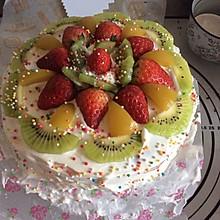 酸奶黄桃水果蛋糕