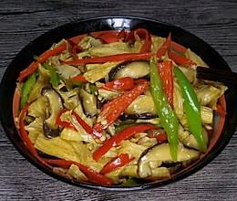 腐竹炒香菇的做法