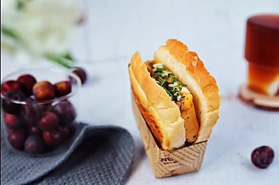 野餐必備快手便當:午餐肉厚蛋燒口袋三明治