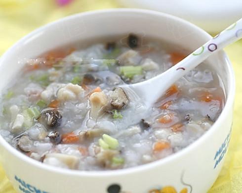 香菇鸡茸蔬菜粥