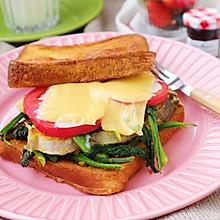 #快手又营养,我家的冬日必备菜品#香煎鳕鱼排三明治