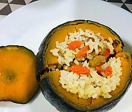 贝贝南瓜糯米饭的做法