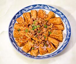 超下饭的肉末香煎豆腐的做法
