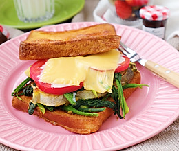#快手又营养,我家的冬日必备菜品#香煎鳕鱼排三明治的做法