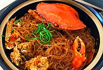 菊黄正当时的螃蟹粉丝煲的做法