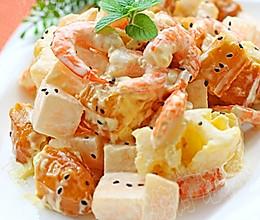 水果虾仁油条沙拉的做法