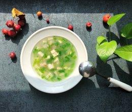 #洗手作羹汤#一清二白~小白菜豆腐汤的做法
