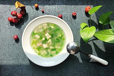 一清二白~小白菜豆腐汤