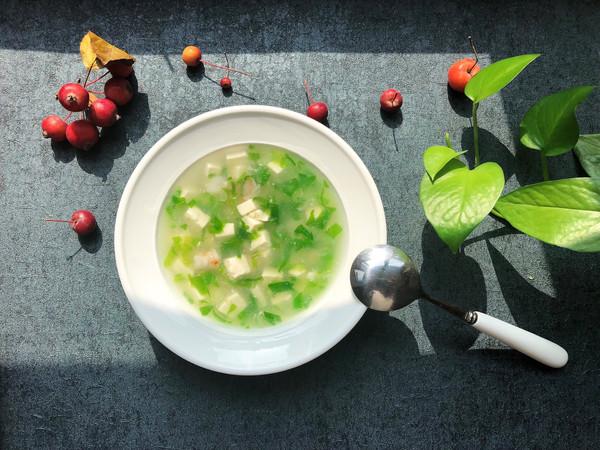 一清二白~小白菜豆腐汤的做法