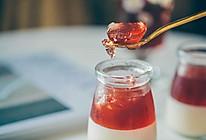 """#""""莓""""好春光日志#Q弹冰爽蔓越莓汁牛奶布丁果冻的做法"""