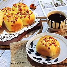 #秋天怎么吃# 一次发酵牛奶火腿小餐包