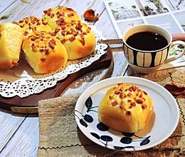 #秋天怎么吃# 一次发酵牛奶火腿小餐包的做法