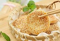 香酥芝麻南瓜饼#年味十足的中式面点#的做法