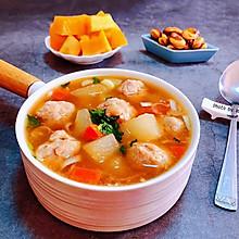 冬瓜胡萝卜肉丸汤