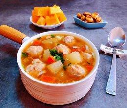 冬瓜胡萝卜肉丸汤的做法